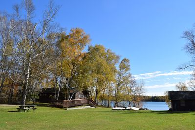 View from Bluewater Lodge. Enjoy wildlife sightings, canoeing and much more!