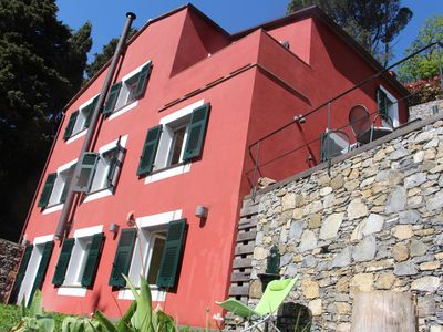 Photo for Peaceful villa with a touch of design, 15 min from seaside, near Portofino, 5 terraces