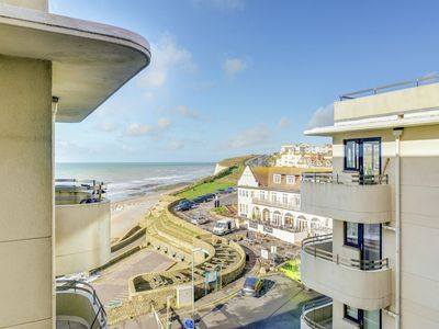 Photo for This seafront forth floor apartment allows for fantastic seaviews from the balcony