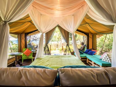 Photo for September VRBO Special $45!! - Unforgettable Beachfront Glamping Experience!