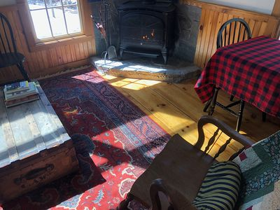Photo for Private Cabin in the Woods, Minutes to Okemo, Pets Allowed