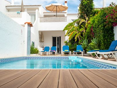 Photo for Fantastic 3-bedroom Villa With Pool and 50 steps to the Sandy Blue Flag Beach !