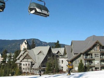Photo for Luxury Slopeside End Condo with Great Views of Ski Slopes.