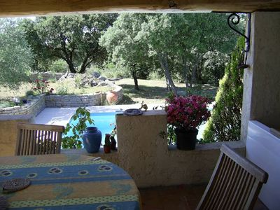 Photo for large house with pool near Alès in the Cevennes