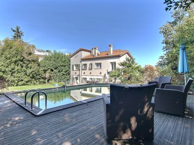 Photo for Beautiful, quiet villa with large garden and private pool, 800m distance to the sea