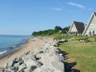 Photo for Lake Michigan Lakefront Chalet on the Lake #2 August weeks and Fall weekends