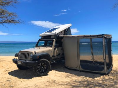 Photo for Jeep Wrangler 4x4 Pop-Up Camper-The most capable camper vehicle on Maui!