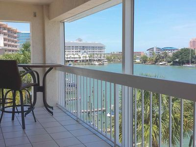 Photo for Marina View, 2-car Garage, 2 Balconies,  Wi-Fi, Cable & Phone, Pool, Hot Tub,Boat Slip-Bayway Shores
