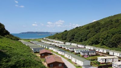 Bovisand Lodge Holiday Park -  view of park to beach