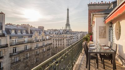 Take in the stunning views from Margaux's wrap around balcony