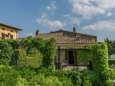 Photo for A beautiful, traditional Tuscan hamlet in the hills.