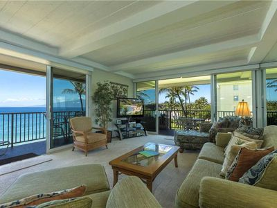 Photo for Whaler at Kaanapali Beach #402 - Two Bedroom Oceanfront Suite directly facing the water