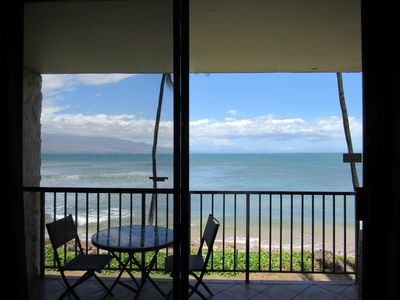You can't beat this view!  Watch whales & sea turtles directly from the lanai.
