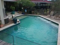 What a beautiful home with great amenities. Spa and pool fantastic. And very pet friendly.