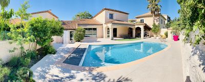 Photo for Ty'Bonheurs - Villa sleeps 8 with garden and pool, near the sea