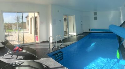Photo for Villa / house private indoor pool 29 ° - beach at 100m