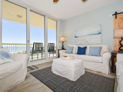 Photo for Updated, chic condo w/private balcony & hardwood floors!