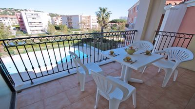Photo for Apartment T3 - 4/5 people - Residence swimming pool - Air conditioning - WiFi - Sainte Maxime