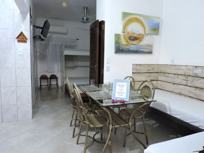 Photo for 1 bedroom apartment for 6 people two blocks from Praia Grande
