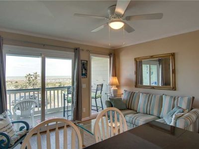 Photo for Cozy Oceanfront Condo With Lovely Ocean Views- Private Fishing Pier Access!