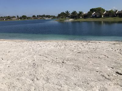 Several beaches on lake, this one is right next to house in your backyard