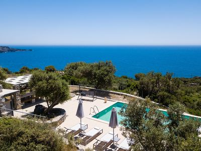Photo for Villa with amazing sea views, full privacy & private pool! 2 Km from the beach!
