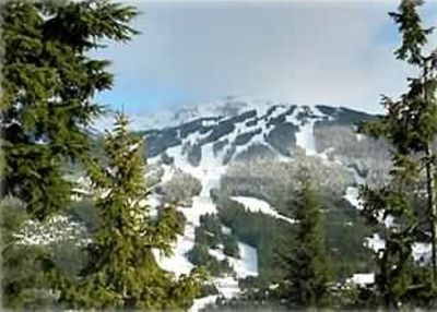 View of Blackcomb from living room.