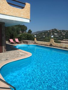Photo for TORRE D.STELLE -VILLA WITH PRIVATE HEATED POOL -100 MT BEACH- VIEW SEA-WIFI