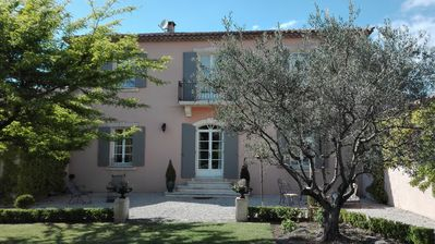 Photo for Charming Bastide with swimming pool at the foot of Mont Ventoux