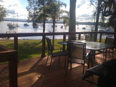 Photo for Starfish Cottage LakeHouse jetty, waterfront, sunsets, decks, kayaks, pool table