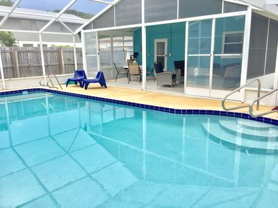 """Photo for """"Dune Our Thing"""" Fantastic Pool Home! - Walk to the Beach, 3 bedroom/1.5 bath"""