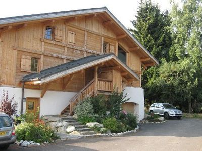 Photo for Charming new ground floor apartment for rent in the season -chalet Megève -