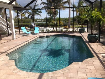 Photo for Luxurious Waterfront Pool Home With Private Dock!