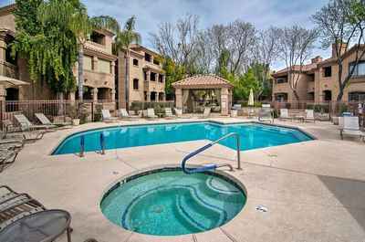 The home is located at the Signature At Scottsdale Horizon and sleeps 4.