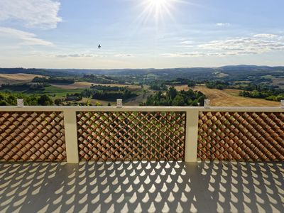 Photo for Most beautiful terrace view, The most beautiful view of Castelnau de Montmiral