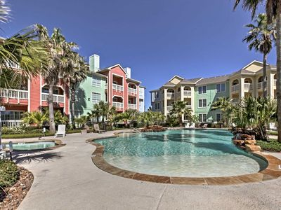 Photo for 1 bedroom 1 bathroom Condo On The Seawall. Views Of The Beach Two Pools. Hot Tub