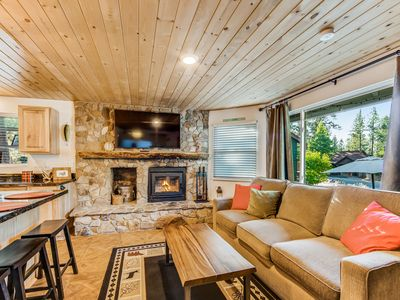 Photo for Ideally located home w/ fireplace - minutes to Big Bear Lake Village!