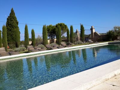 Photo for Accommodation in Drôme Provençale in an 18th century farmhouse with swimming pool