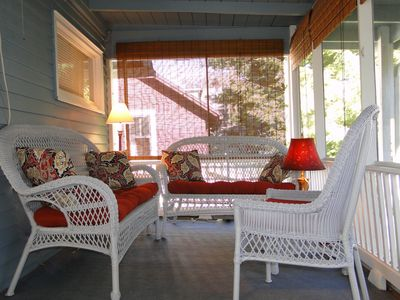 Upstairs screened porch