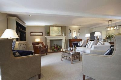A generous open-plan living area, kitchen and dining room