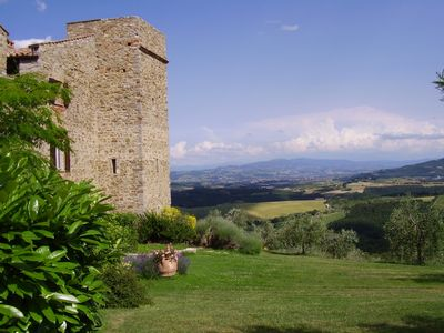 Tower and view towards Assisi