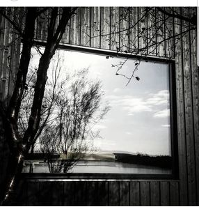 The lake reflected in the living room window :)