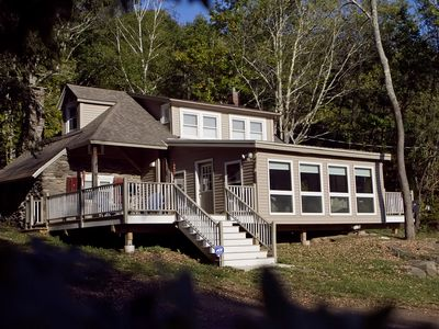 Photo for Cheerful 3 BR Country Cabin On 5 Acres  - Secluded yet close to town!