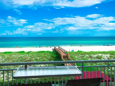 Photo for Gulf Front Condo, Sleeps 12, Pool Table, 2 kitchens, 2 private balconies, Pools