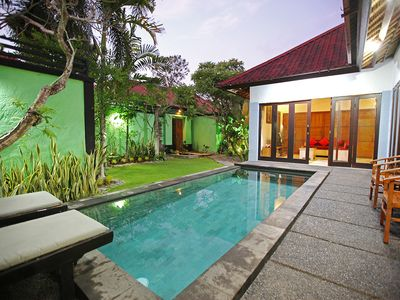 Photo for 2 Bedroom Private Pool Villa, Minutes walk to Seminyak Shopping, Staff service