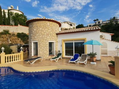 Photo for Fantastic holiday home with private pool and panoramic view, WIFI, air conditioning