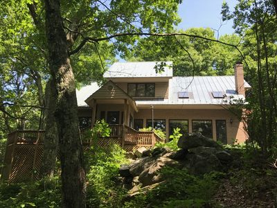 Photo for Gorgeous, Well-Appointed, Private Mountain Home, Fireplace, WiFi, Large Patio