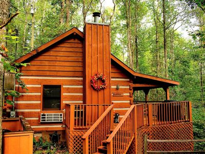 Photo for Bear View - Beautiful Studio cabin for couples, hot tub, private in Timberwinds Resort