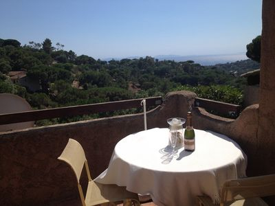 Photo for Mas Topazz Gigaro quiet south-west position with terrace and lovely sea views