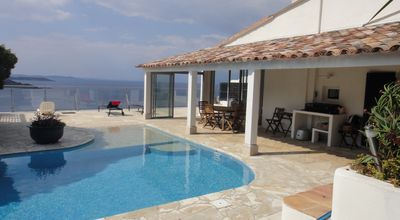 Photo for VILLA WITH SWIMMING POOL, VERY BEAUTIFUL SEA VIEW, LEVANT ISLAND